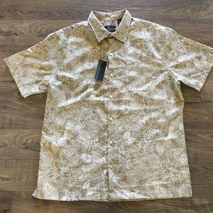VAN HEUSEN Floral Print Classic Fit Shirt Men's L